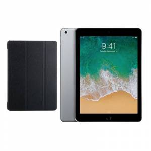 "Apple iPad 9.7"" (2018) 128GB Wifi with Folding Case (Black) - Space Gray..."