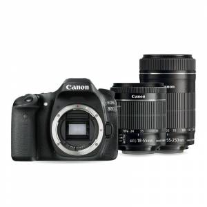 Canon EOS 80D Twin kit with 18-55 IS STM and 55-250mm IS STM Lens Digital...