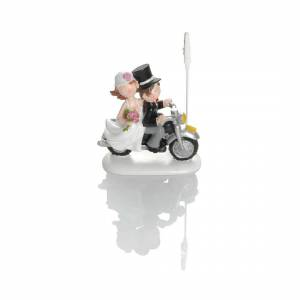 Booster Deco Figure Wedding Motorbike with Clip 2