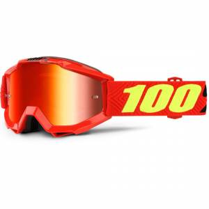 100% Accuri Extra Kids Motocross Goggles Red Yellow One Size