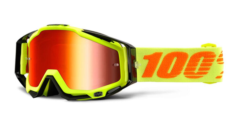 100% Racecraft Extra Motocross Goggles Yellow One Size