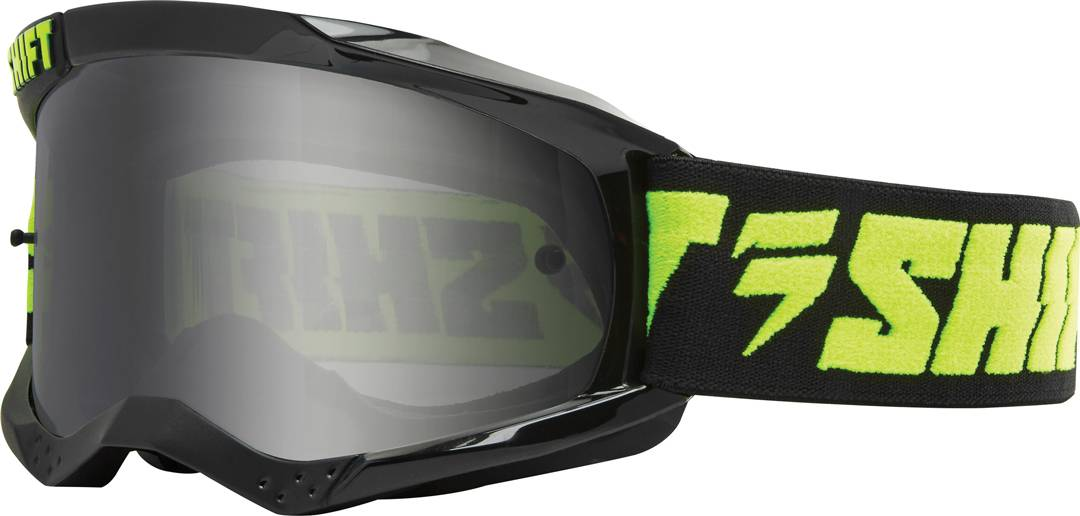 Shift WHIT3 Non Mirrored Motocross Goggles Black Yellow