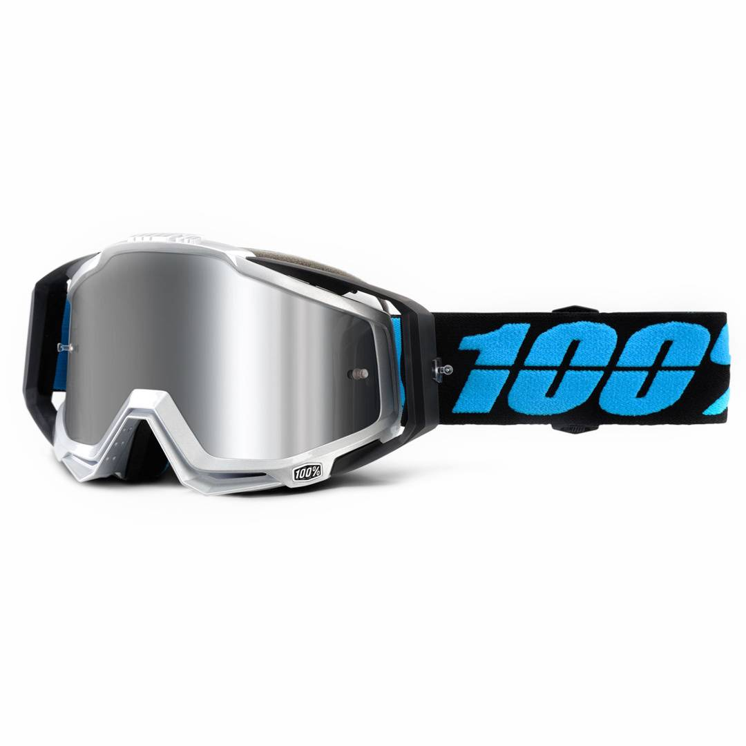 100% Racecraft Plus Motocross Goggles Black Blue One Size