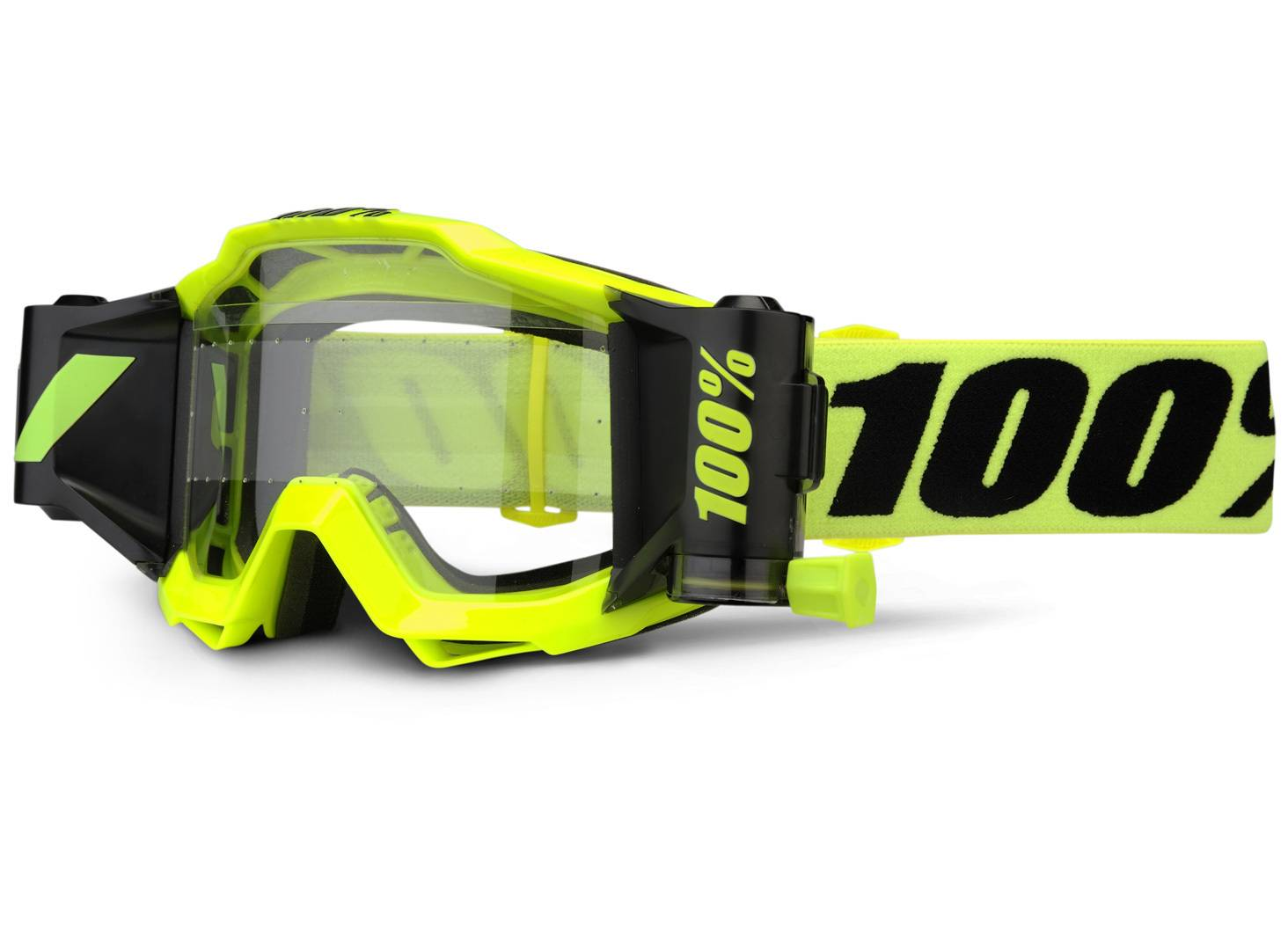 100% Accuri Forecast Motocross Goggles Black Yellow One Size