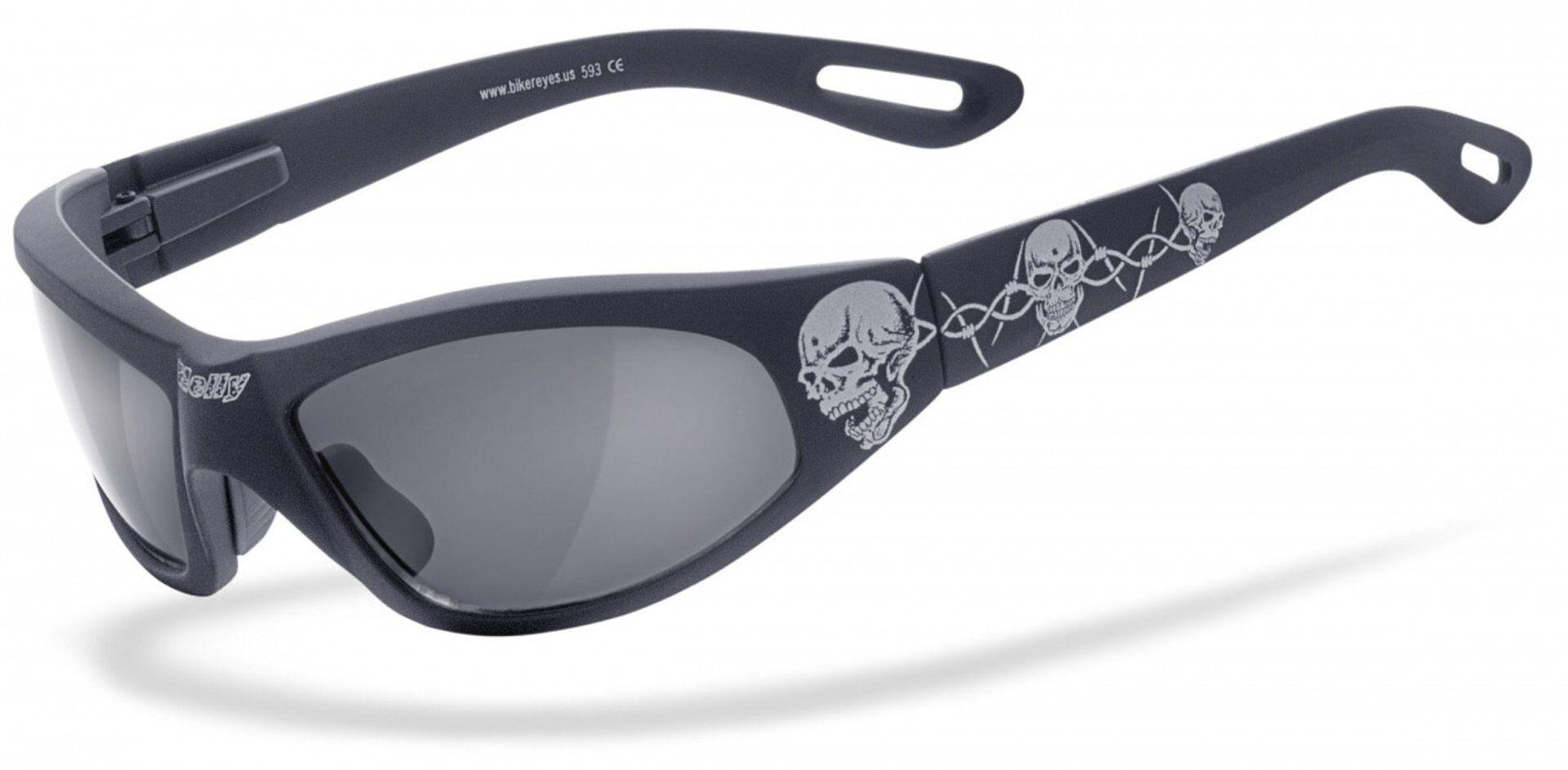 Helly Bikereyes Black Angel Sunglasses Black White One Size