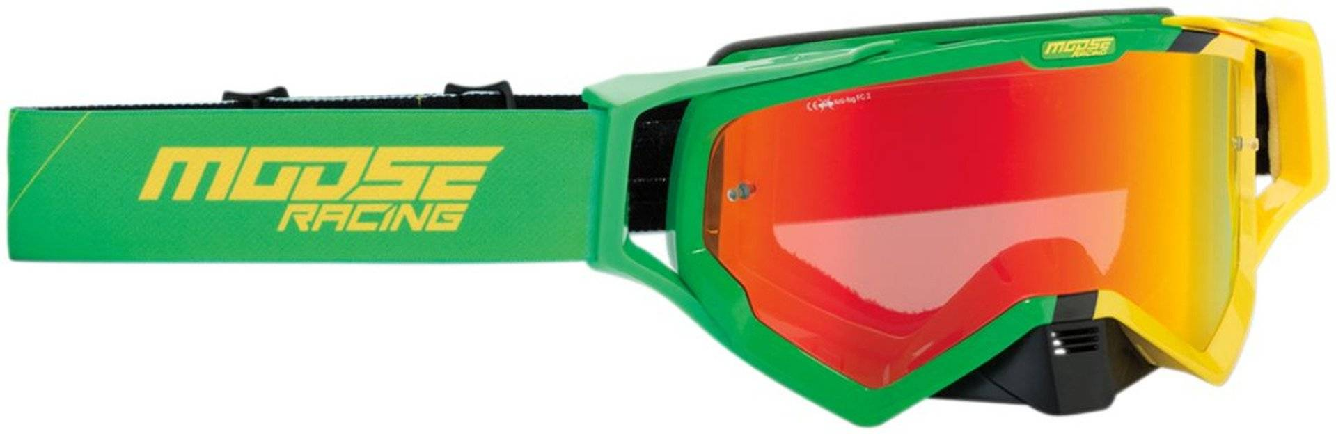 Moose Racing XCR Hatch Motocross Goggle Green Yellow One Size