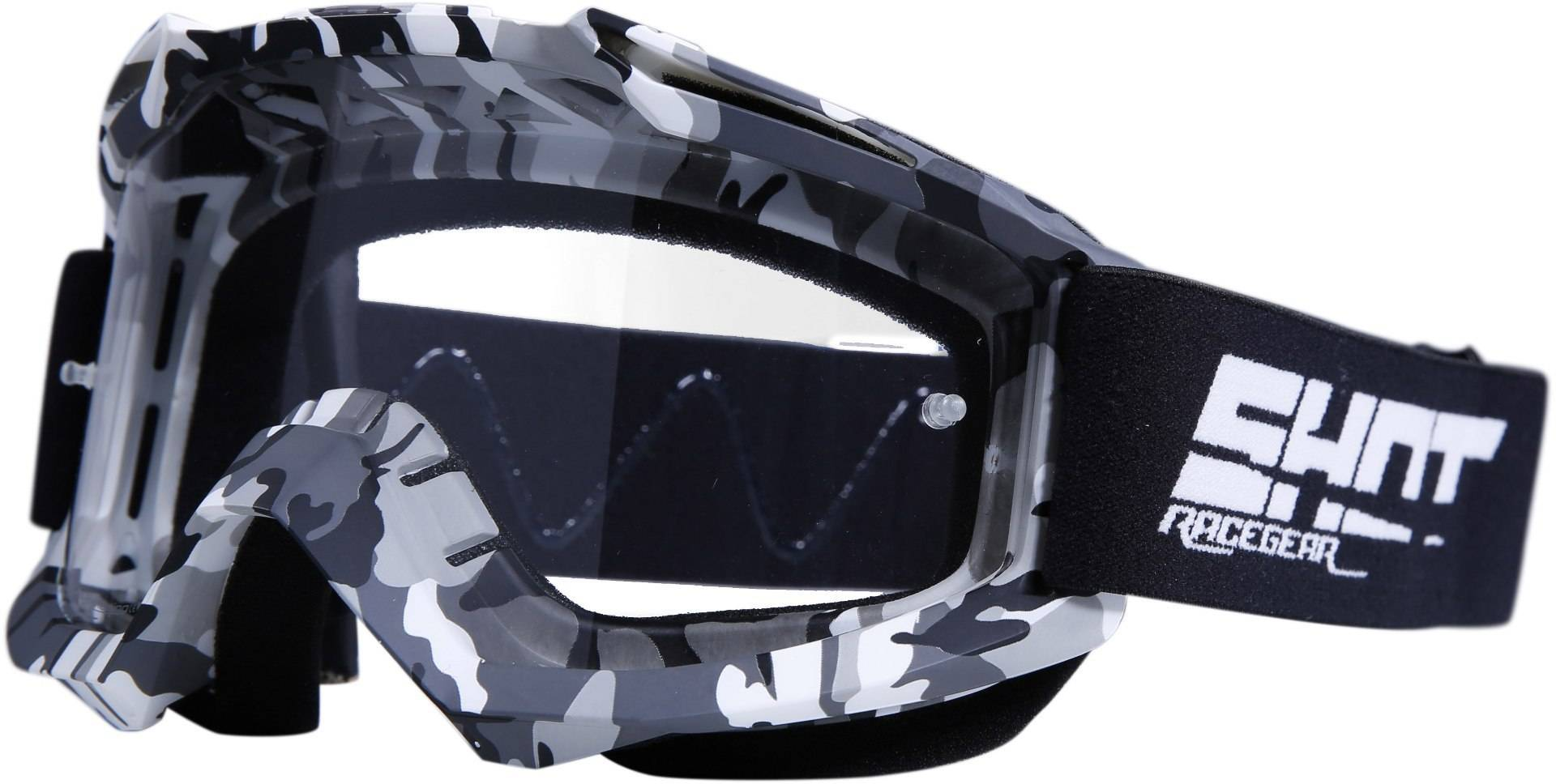 Shot Assault Counter Motocross Goggles Black Grey One Size