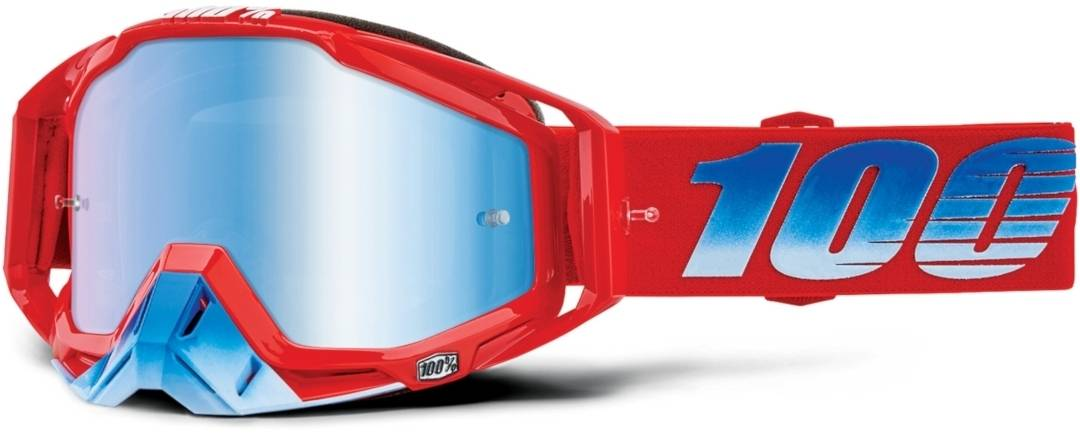 100% Racecraft Extra Kuriakin Motocross Goggles Red Blue One Size