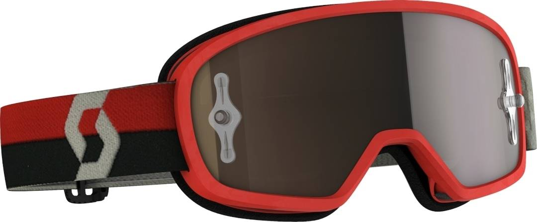 Scott Buzz Pro Chrome Kids Motocross Goggles Red One Size