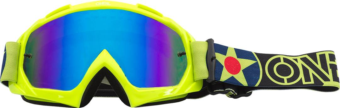 Oneal B-10 Warhawk Motocross Goggles Yellow One Size