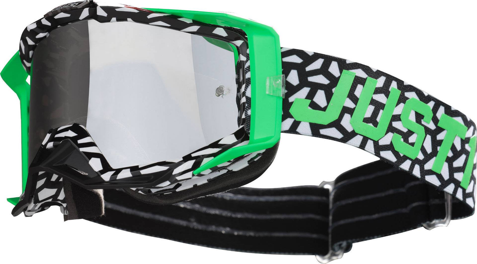 Just1 Iris Mask Motocross Goggles White Green One Size