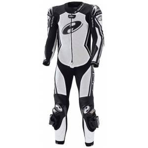 Held Full Speed One Piece Motorcycle Leather Suit Black White 58
