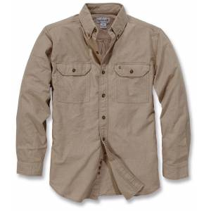 Carhartt Fort Solid Long Sleeve Shirt Brown S