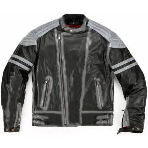 Helstons Flash Leather Jacket Black Grey M