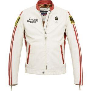 Blauer USA Garret Leather Jacket White Red S