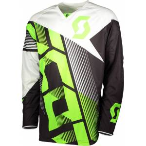 Scott 350 Dirt Motocross Jersey 2018 Black Green 2XL