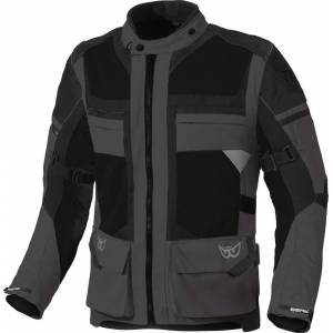 Berik Tour-X Waterproof Motorcycle Textile Jacket Black Grey 48