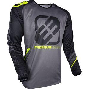 Freegun Devo College Jersey Grey Yellow XL