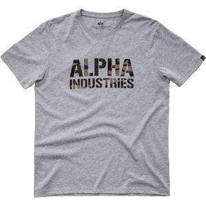 Alpha Industries Camo Print T-Shirt Grey XL