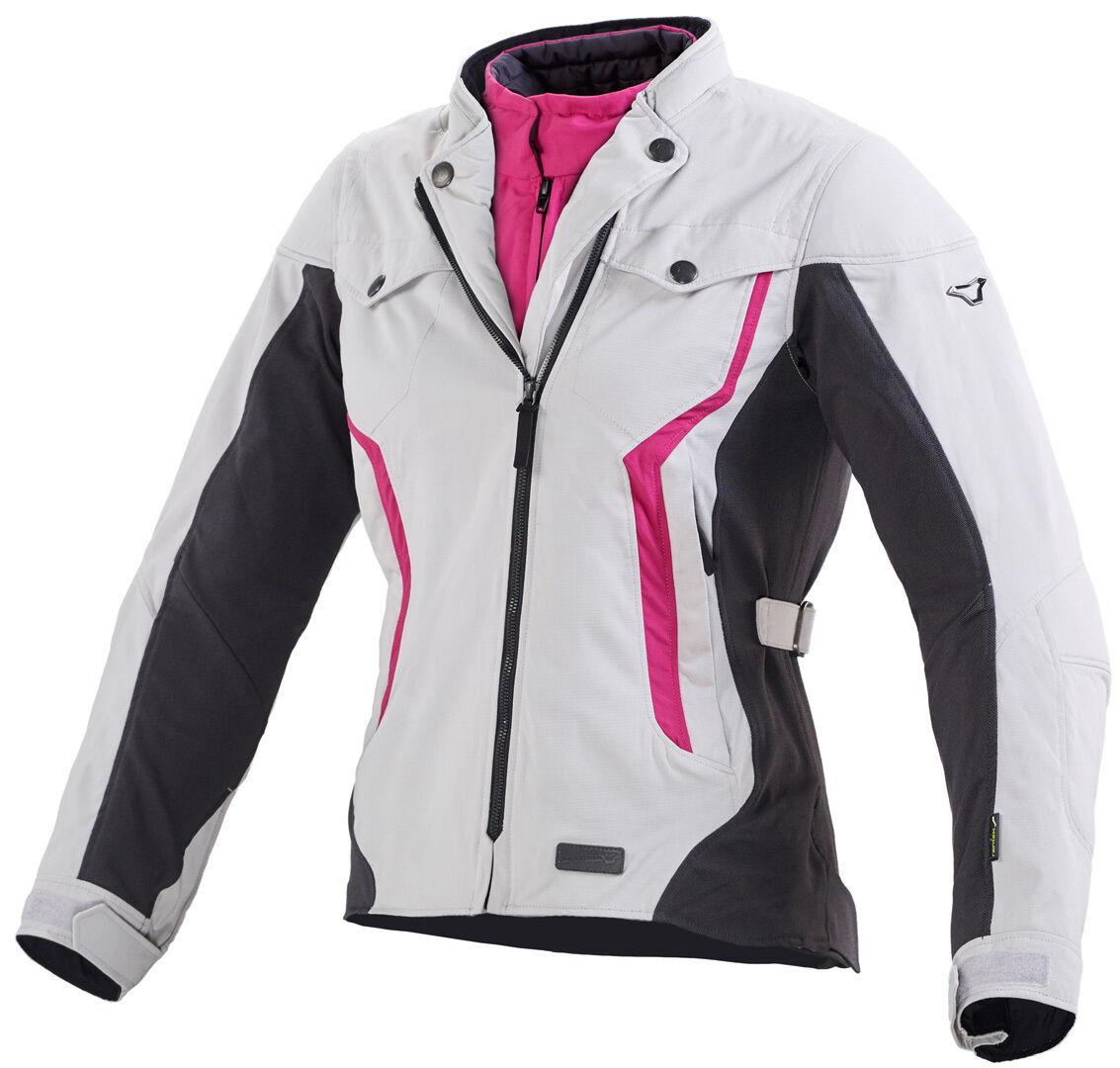 Macna Impala Textile Jacket Black White Pink M
