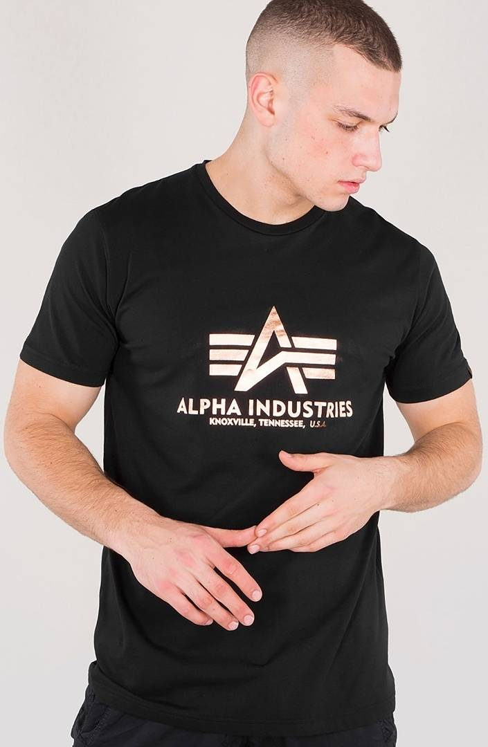 Alpha Industries Basic T-Shirt Black Gold 2XL
