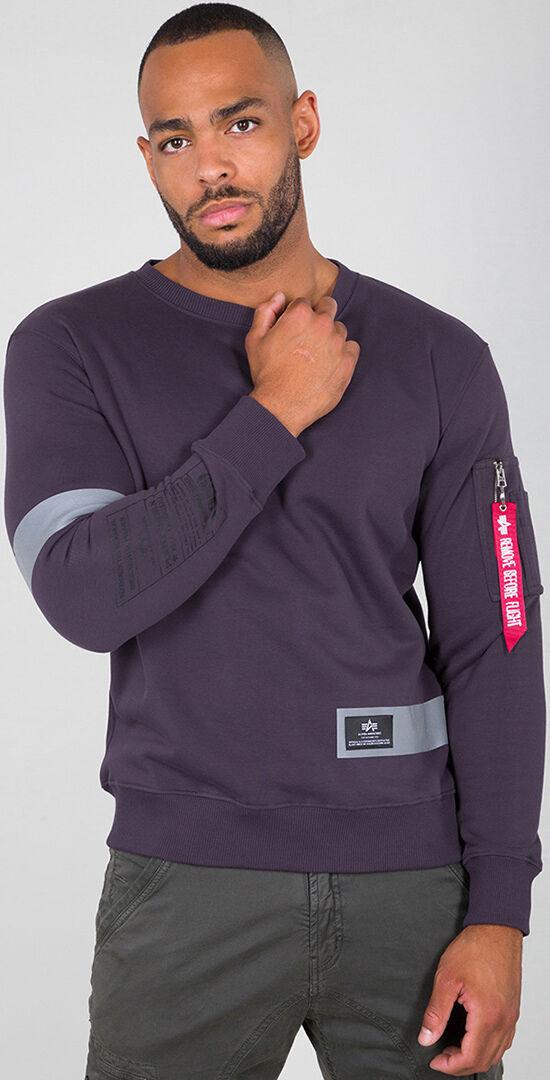 Alpha Industries Reflective Stripes Sweatshirt Purple XL