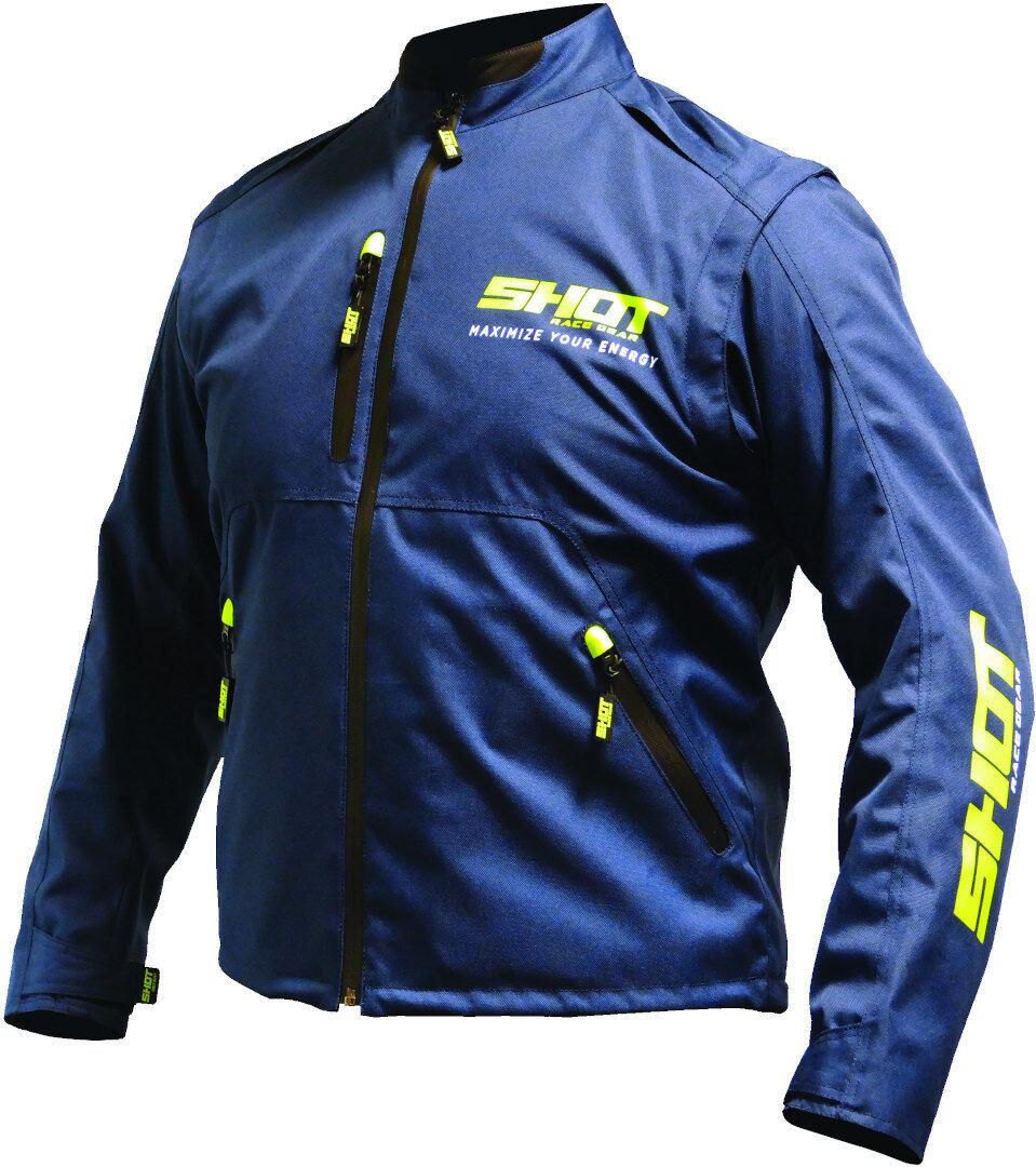 Shot Contact Assault Motocross Jacket Blue Yellow 2XL