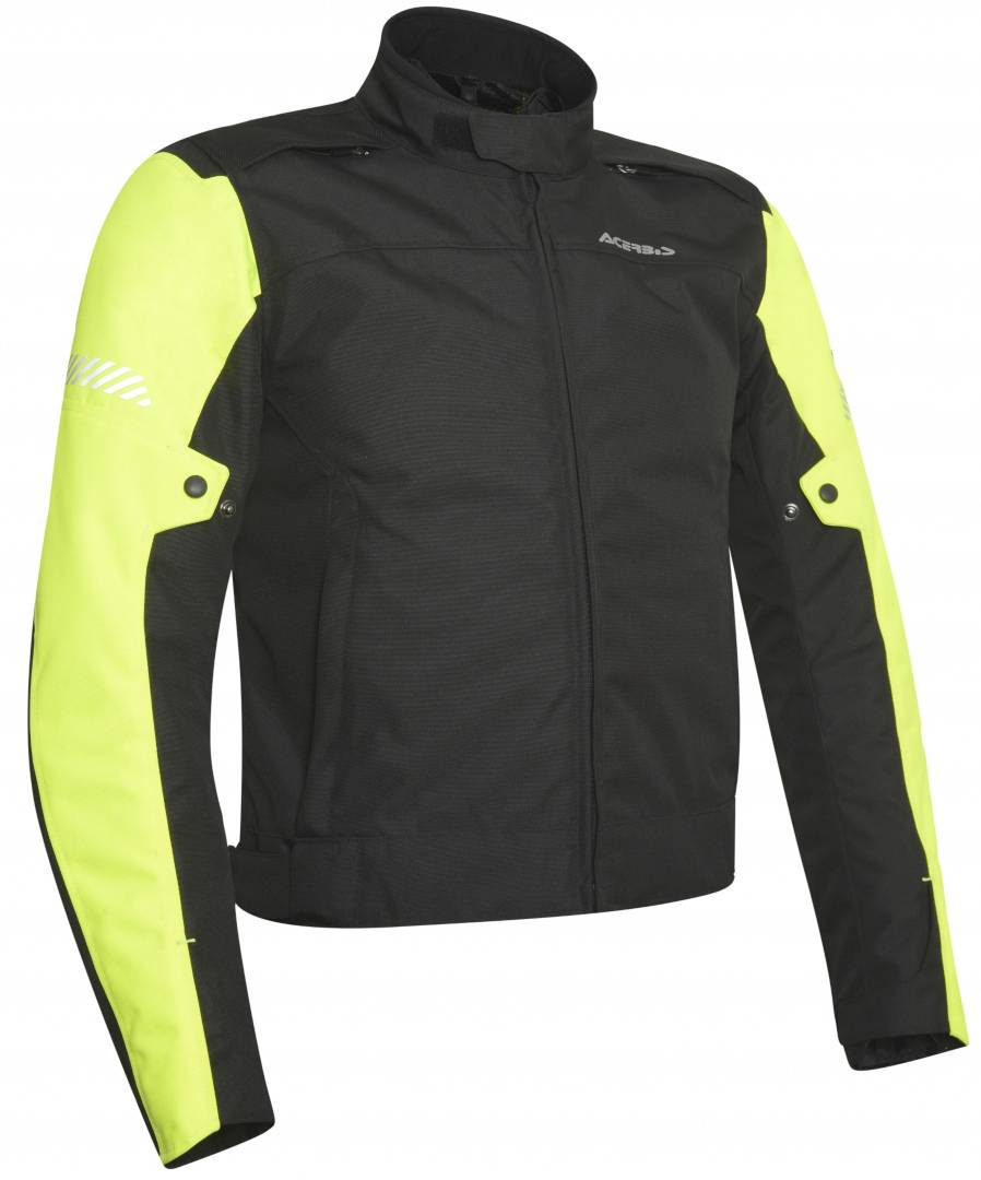 Acerbis Discovery Ghibly Motorcycle Textile Jacket Black Yellow XL