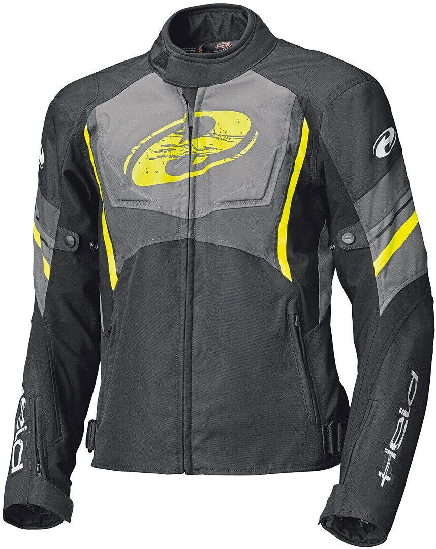 Held Baxley Top Motorcycle Textile Jacket Black Yellow 4XL