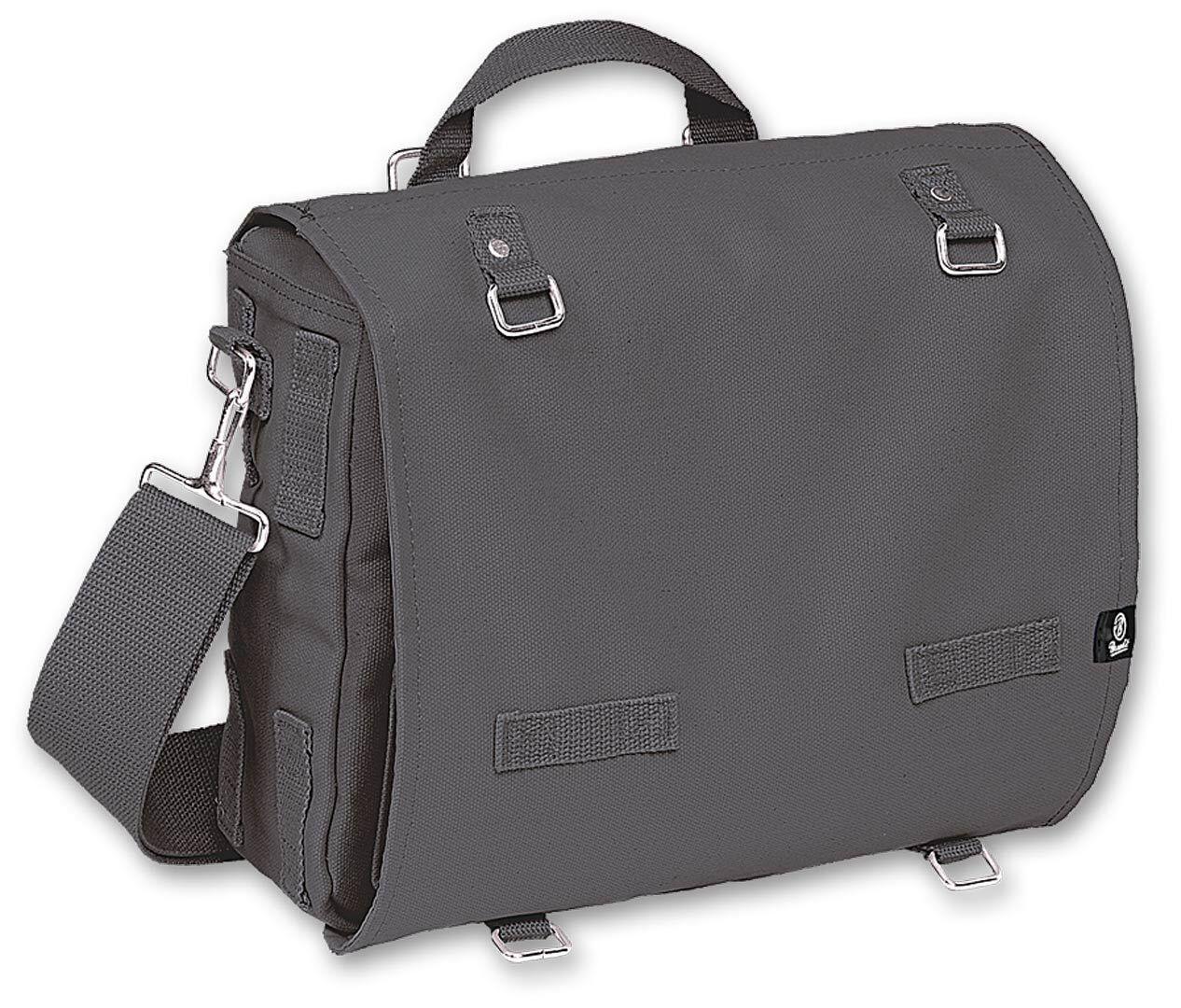 Brandit Canvas L Bag Black Grey One Size