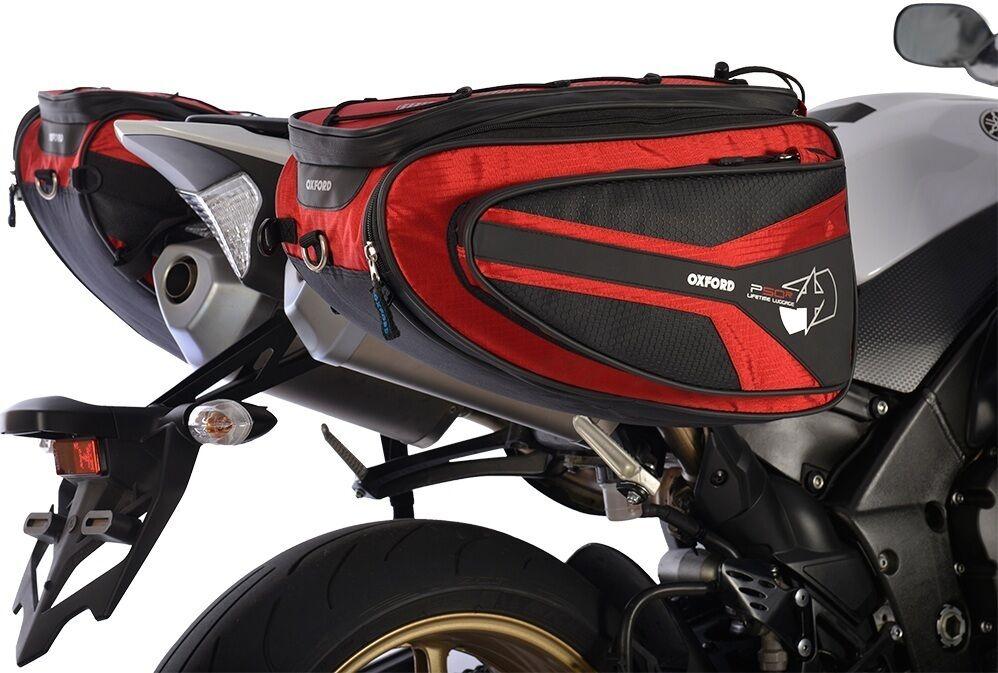 Oxford P50R Motorcycle Saddlebag Red 41-50l