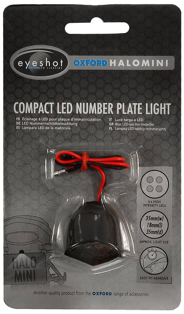Oxford Halo Compact Light LED Number Plate Lighting Black