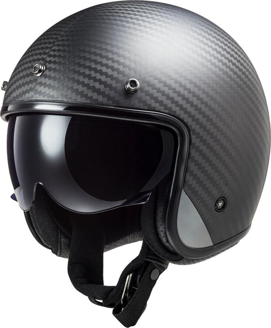 LS2 OF601 Bob Carbon Jet Helmet  - Size: Small