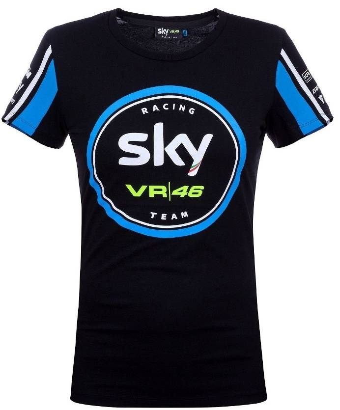 VR46 Sky Racing Team Women's T-Shirt Black Blue M