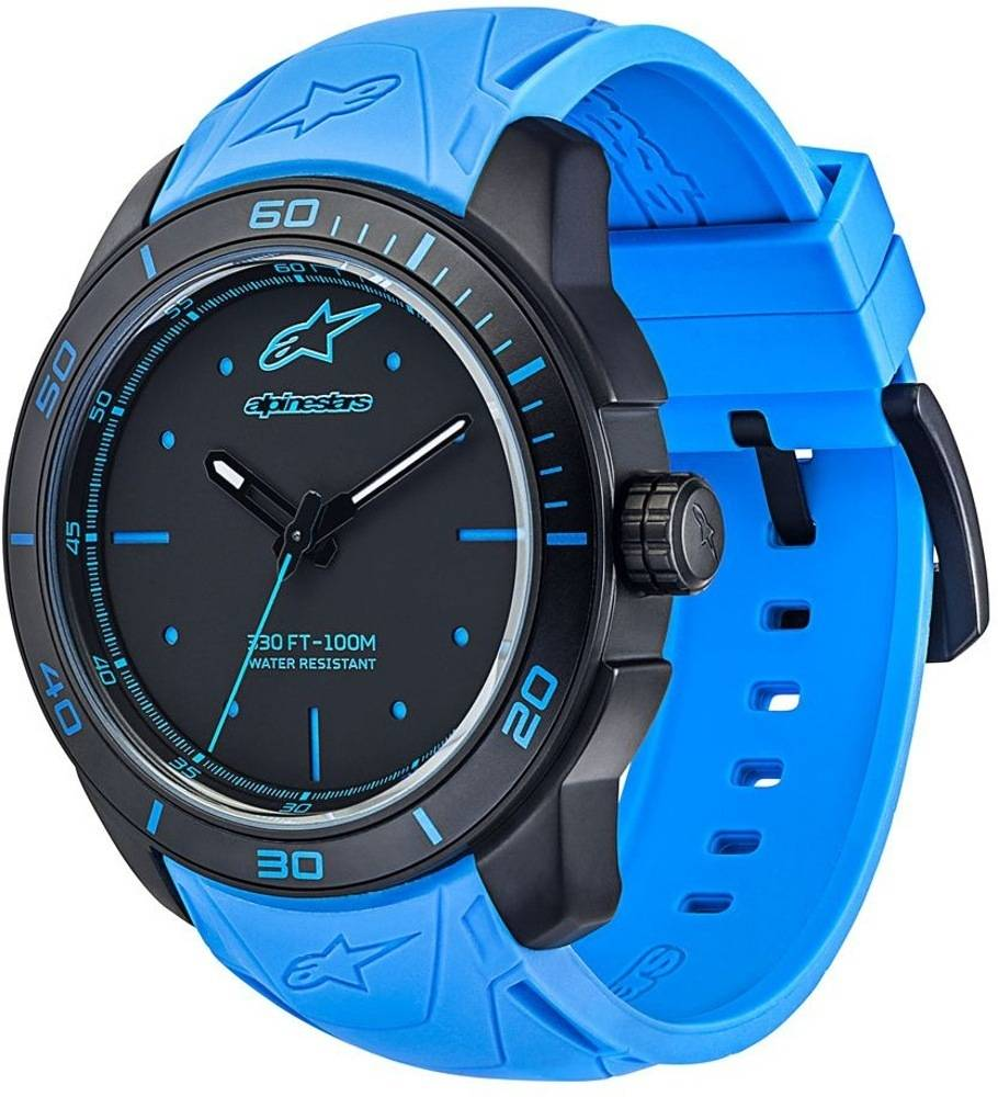 Alpinestars Tech Black Matte Watch Blue One Size