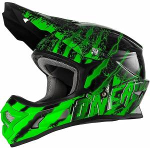 Oneal O´Neal 3 Series Crawler Kids Motocross Helmet Black Green M