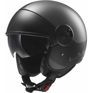 LS2 OFF597 Cabrio Via Jet Helmet Black S