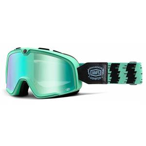 100% Barstow Classic Motocross Goggles Black Green One Size