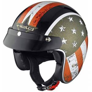 Held Black Bob Jet Helmet Flag Design Black XS