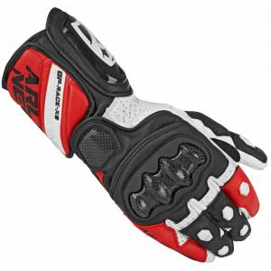 Arlen Ness Imola Motorcycle Gloves Black White Red XS