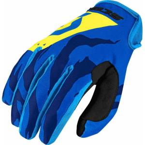 Scott 350 Race Motocross Gloves 2017 Blue Yellow L
