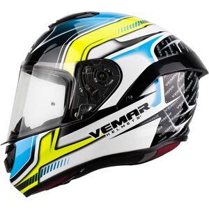 Vemar Hurricane Racing Helmet White Blue Yellow 2XL