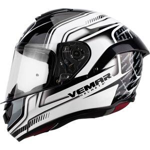 Vemar Hurricane Racing Helmet Black Grey White XS