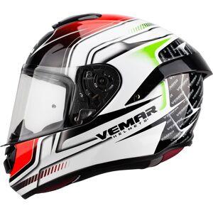 Vemar Hurricane Racing Helmet White Red Green L