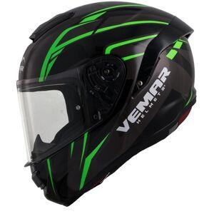 Vemar Hurricane Spark Helmet Black Green XS