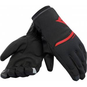 Dainese Plaza 2 D-Dry Gloves Black Red M