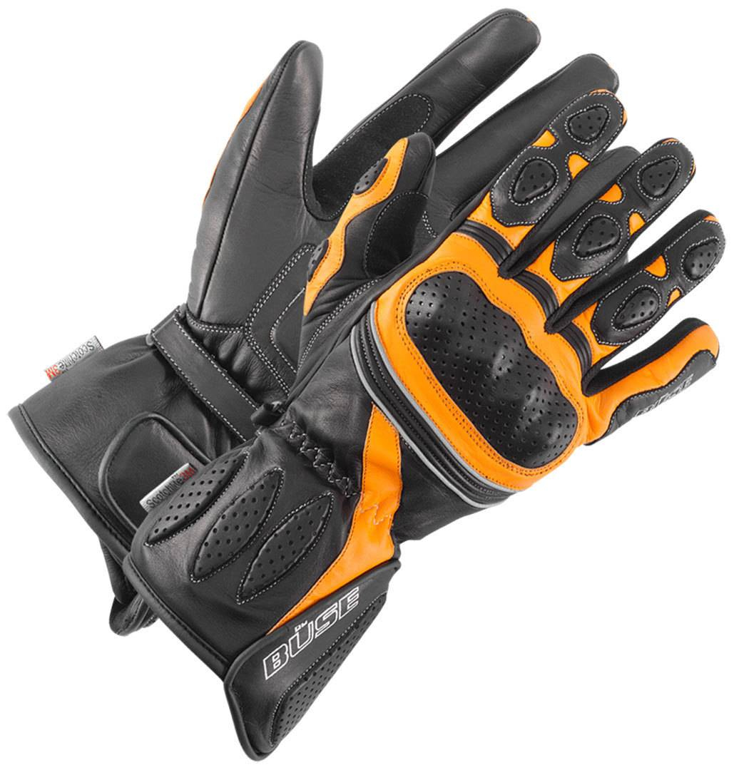 Büse Pit Lane Ladies Gloves Black Orange M L