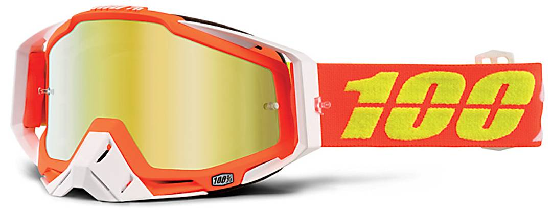 100% Racecraft Extra Motocross Goggles Orange One Size