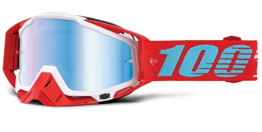 100% Racecraft Extra Motocross Goggles Red Blue One Size
