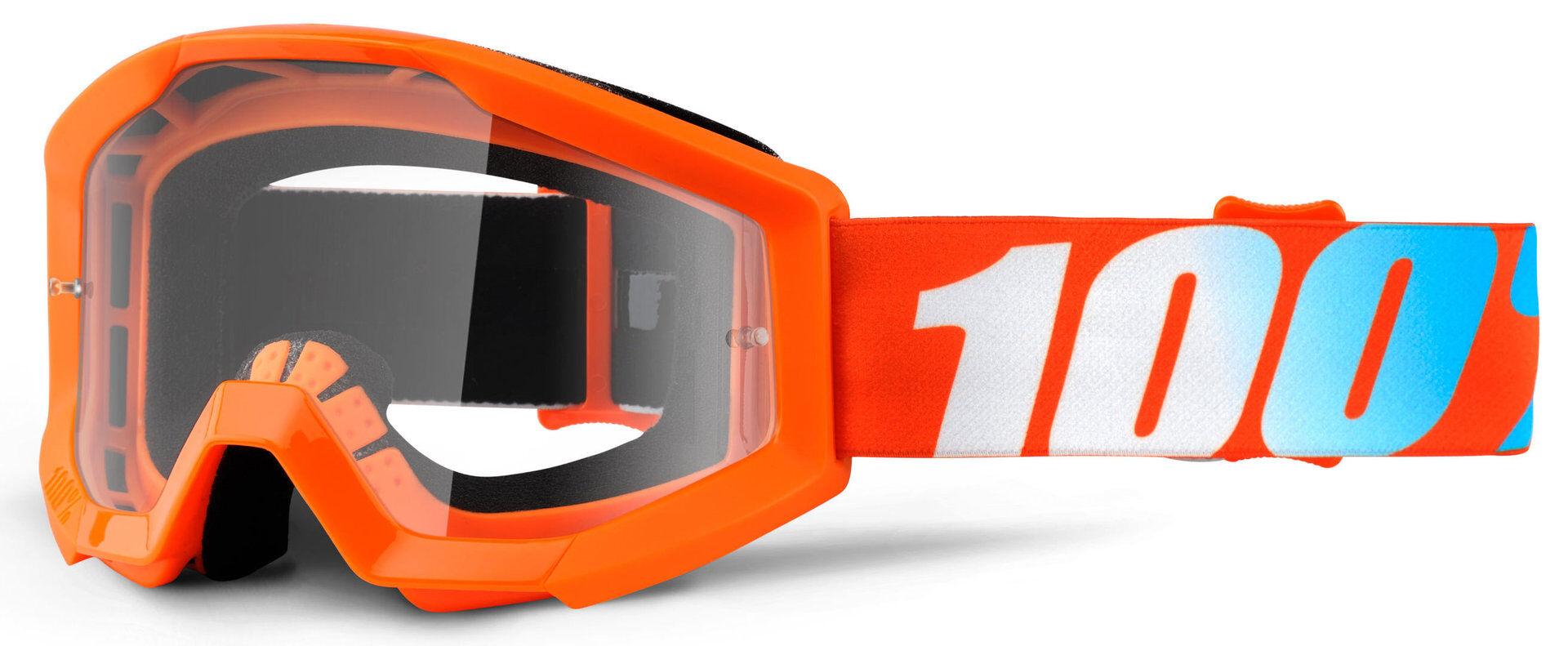 100% Strata JR Kids Motocross Goggles Blue Orange One Size